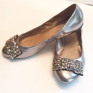 BCBGeneration Flats With Crystal Bows